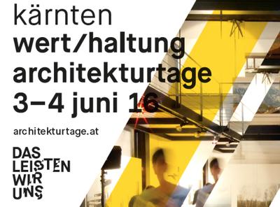 Architekturtage 2016: DAS LEISTEN WIR UNS!