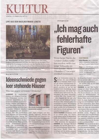 Kleine Zeitung_2016.01.10_Ideenschmiede gegen leer stehende Häuser