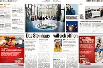 Kleine Zeitung_2016.05.25_Das Steinhaus will sich öffnen
