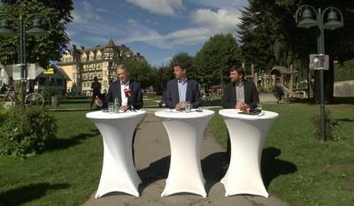 Pressegespräch in Velden. V.l. Vouk, Fellner, Molitschnig